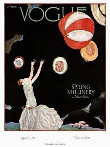 Vogue Cover - March 1925 by Georges Lepape