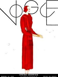 Vogue Cover - March 1931 by Georges Lepape