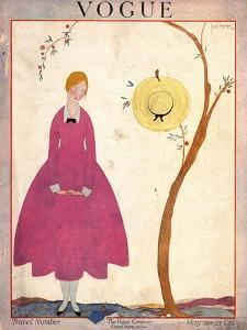 Vogue Cover - May 1917 by Georges Lepape