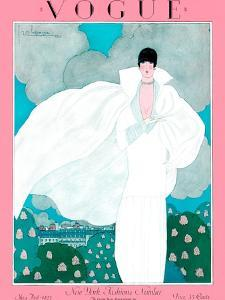 Vogue Cover - May 1925 - Spring Breeze by Georges Lepape