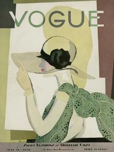 Vogue Cover - May 1928 by Georges Lepape