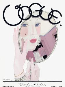 Vogue Cover - November 1927 by Georges Lepape