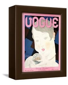 Vogue Cover - November 1928 by Georges Lepape