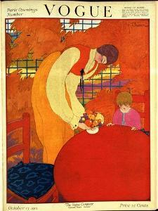 Vogue Cover - October 1918 by Georges Lepape