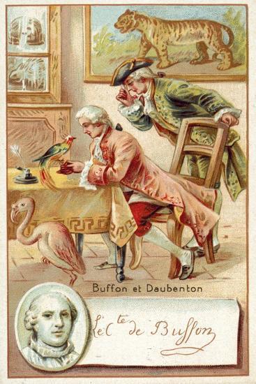 Georges-Louis Leclerc, Comte De Buffon, and Louis-Jean-Marie Daubenton, French Naturalists--Giclee Print