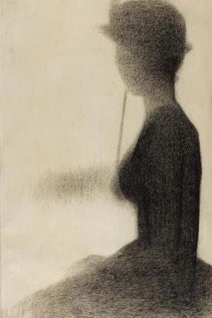 Seated Woman with a Parasol , 1884-85 by Georges Pierre Seurat