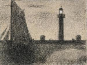 The Lighthouse at Honfleur, 1886 by Georges Pierre Seurat