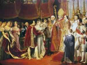 Religious Marriage of Napoleon I and Marie-Louise in Salon Carre at Louvre, on 2 April, 1810 by Georges Rouget