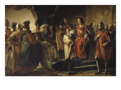 """Saint-Louis reçoit à Saint-Jean d'Acre (Ptolémaïs) les envoyés de Rachid el Din Sinan, dit """"le"""