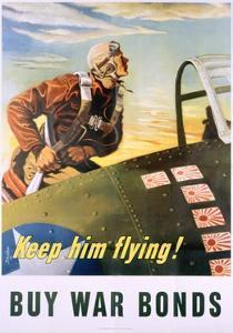 Keep Him Flying! Buy War Bonds Poster by Georges Schrieber