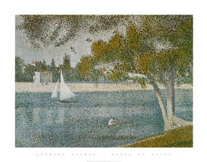 Banks of Seine by Georges Seurat