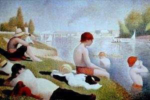 Bathers At Asnieres, 1884, French School by Georges Seurat