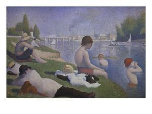 Bathers at Asnieres, 1884 by Georges Seurat