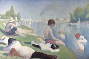 Bathers at Asnières, 1884 by Georges Seurat