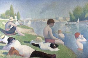Bathers at Asnières (Baigneurs À Asnière), 1884 by Georges Seurat