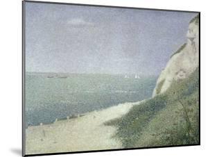 Beach at Bas Butin, Honfleur, 1886 by Georges Seurat
