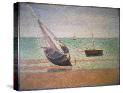 Boote Bei Ebbe Am Strand Von Grandcamp, 1885