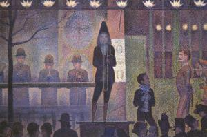 Circus Sideshow, 1887 by Georges Seurat