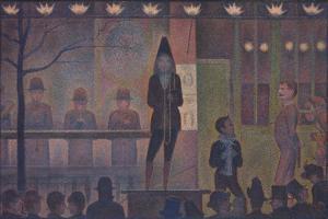 Circus Sideshow (Parade de cirque), 1887-88 by Georges Seurat