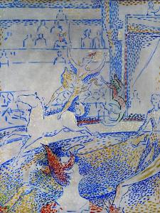 """Esquisse pour """" le Cirque"""" -sketch for """" the circus"""" 1891 by Georges Seurat"""