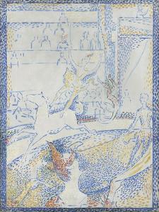 """Esquisse pour """"Le Cirque"""" by Georges Seurat"""