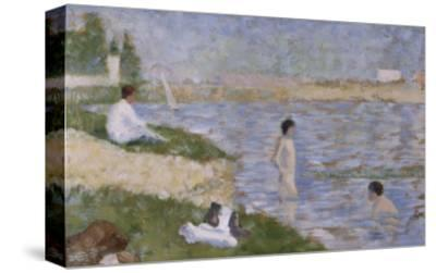 """Etude pour """"Une Baignade à Asnières"""", personnage dans l'eau"""