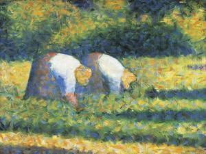 Farmers at Work, 1882 by Georges Seurat