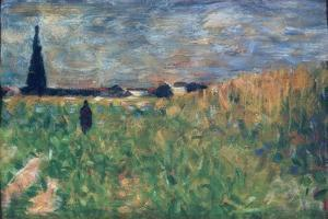 Fields in Summer by Georges Seurat