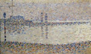 Gravelines: un soir, étude by Georges Seurat