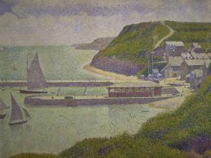 Harbour at Port-En-Bessin at High Tide, 1888 by Georges Seurat