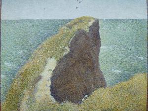Le Bec Du Hoc, Grandcamp by Georges Seurat