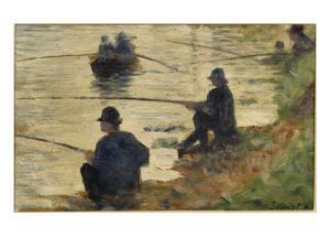 Les pêcheurs à la ligne, étude pour le Grande Jatte by Georges Seurat