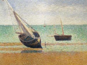 Low Tide at Grandcamp, 1885 by Georges Seurat