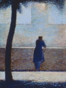 Man Leaning on a Parapet by Georges Seurat