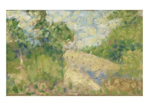 Paysage rose by Georges Seurat