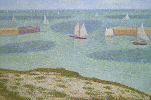 Port-En-Bessin, Entrance to the Harbor by Georges Seurat