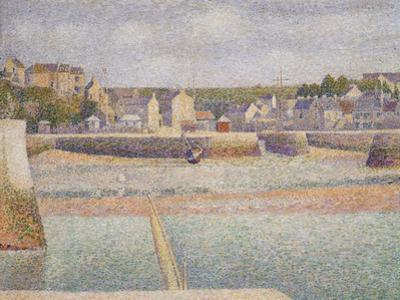 Port-En-Bessin: the Outer Harbor (Low Tide), 1888 by Georges Seurat