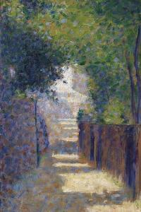 Rue St. Vincent in Spring, C.1884 by Georges Seurat