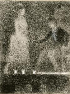 Scène de théâtre, la répétition by Georges Seurat