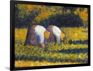 Seurat: Farm Women, C1882 by Georges Seurat
