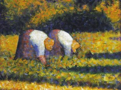 Seurat: Farm Women, C1882