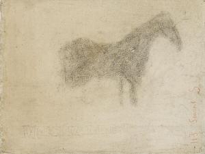 Silhouette d'un cheval, de profil à droite by Georges Seurat