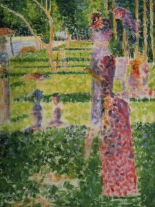 Strollling Couple, about 1884/1885 by Georges Seurat
