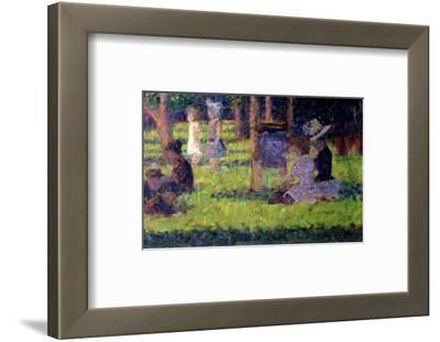 """Study for """"A Sunday Afternoon on the Island of La Grande Jatte,"""" circa 1884-86"""