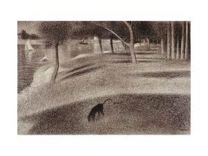Study For Sunday Afternoon on the Island of La Grande Jatte, c.1884 by Georges Seurat