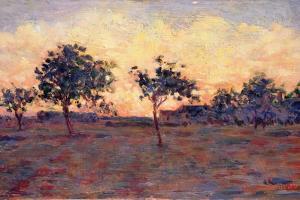Sunset (Coucher De Soleil) 1881 by Georges Seurat
