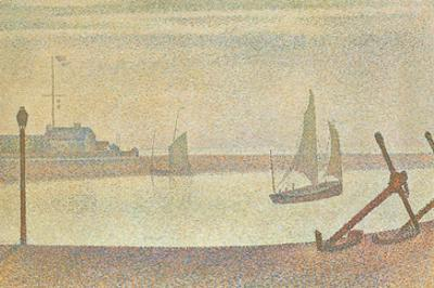 The Channel at Gravelines in the Evening by Georges Seurat