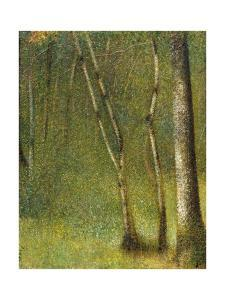 The Forest at Pontaubert by Georges Seurat
