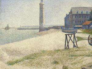 The Lighthouse at Honfleur, 1886 by Georges Seurat