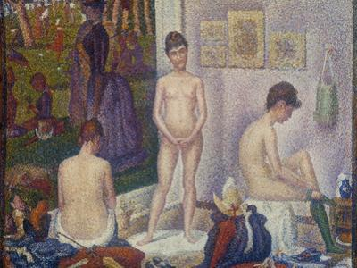 The Models (Les Poseuses). Second Version, 1888 by Georges Seurat